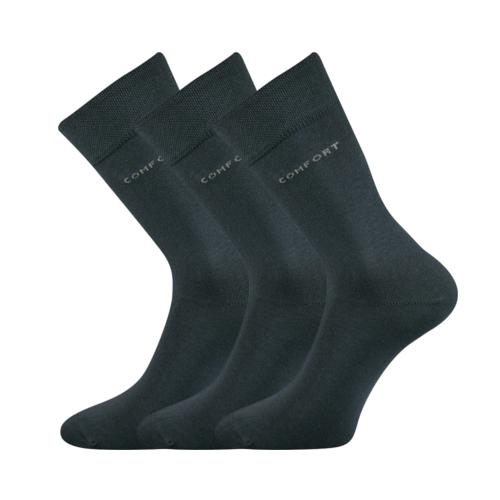 Společenské ponožky 3 kusy v balení Lonka Comfort tmavě šedá Velikost: 39-42