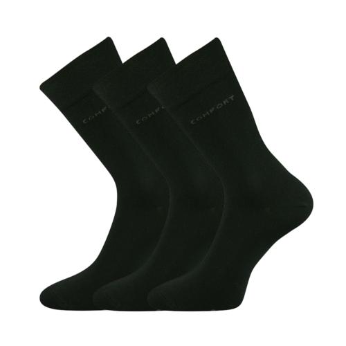 Společenské ponožky 3 kusy v balení Lonka Comfort černá Velikost: 39-42