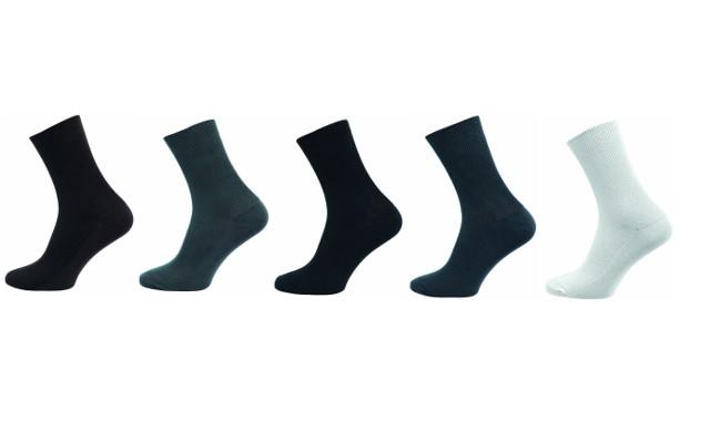 Zdravotní ponožky 5 kusů v balení Novia Medic mix barev Velikost: 40-41