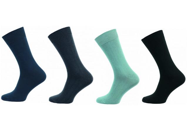 Zdravotní ponožky 4 páry v balení Novia klasik mix barev Velikost: 40-41