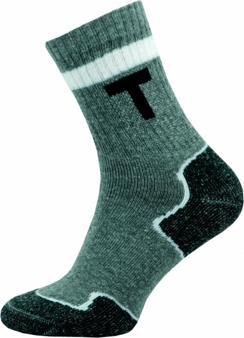 Thermo Ponožky NOVIA 100S šedé bílý použek Velikost: 44-45