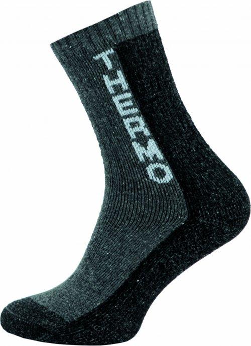 Thermo Ponožky NOVIA 100S šedé nápis thermo Velikost: 38-39