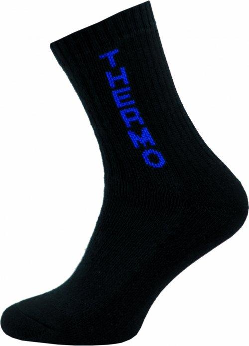 Thermo Ponožky NOVIA 100S černé modrý nápis thermo Velikost: 38-39