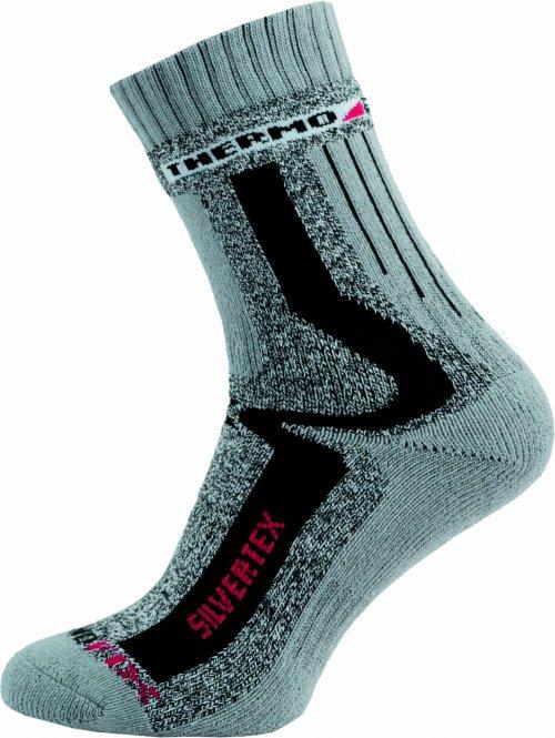 Sportovní Ponožky NOVIA Silvertex Thermo šedé Velikost: 44-45