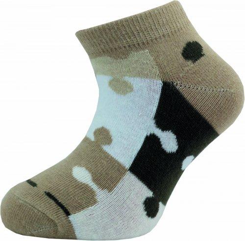 Dětské kotníkové ponožky Novia 127N 4 páry v balení mix vzorů puzzle Velikost: 20-24