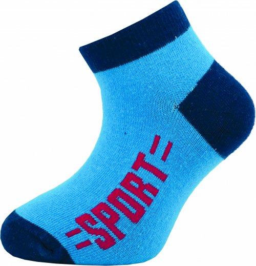 Dětské kotníkové ponožky Novia 128N 4 páry v balení mix vzorů sport Velikost: 20-24