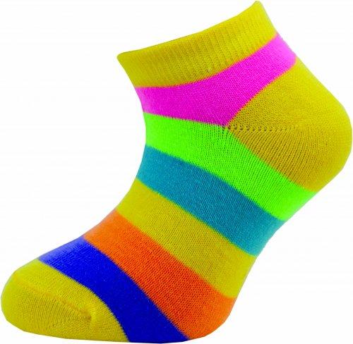 Dětské kotníkové ponožky Novia 205N 4 páry v balení mix vzorů pruhy Velikost: 25-29