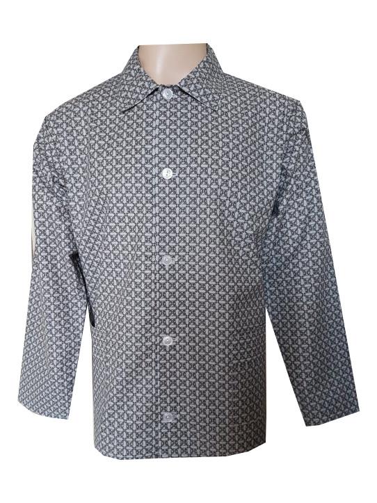 Pánský Pyžamový Kabátek Plátěný FOLTÝN PPK04 Velikost: XL, Materiál: Plátno