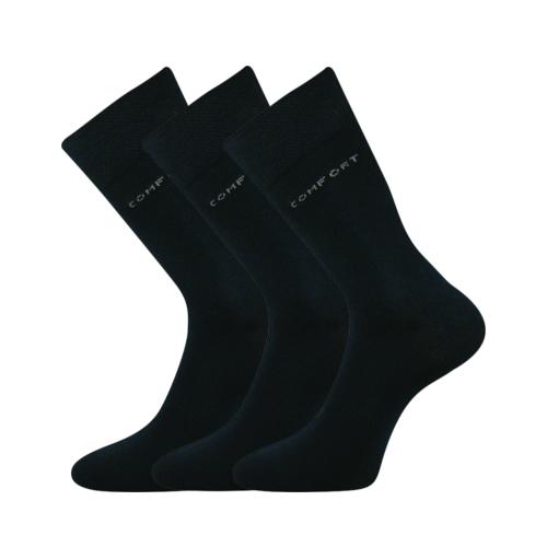 Společenské ponožky 3 kusy v balení Lonka Comfort tmavě modrá Velikost: 39-42