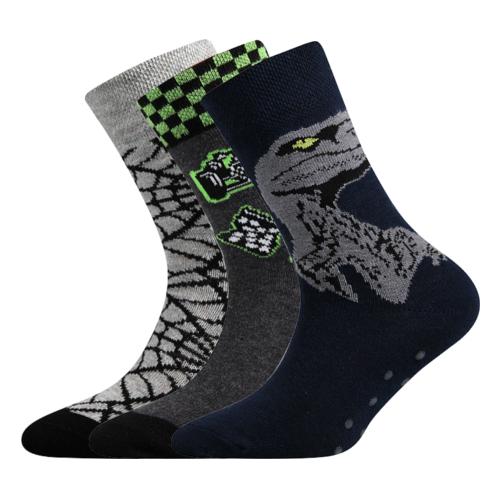 Dětské bambusové ponožky 3 kusy v balení VoXX Filip mix chlapecké Velikost: 20-24
