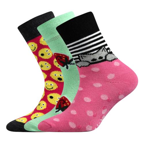 Dětské bambusové ponožky 3 kusy v balení VoXX Filip mix dívčí Velikost: 20-24
