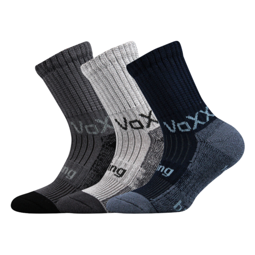 Dětské bambusové ponožky 3 kusy v balení VoXX Bomberik chlapecké Velikost: 39-42