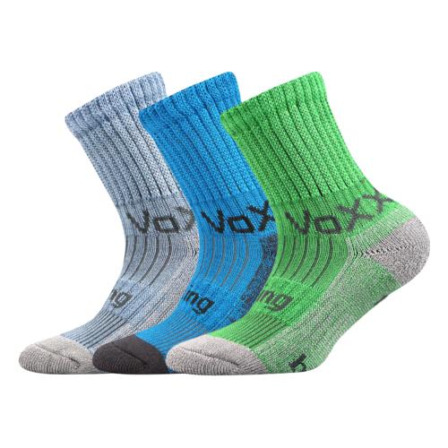 Dětské bambusové ponožky 3 kusy v balení VoXX Bomberik mix c Velikost: 39-42