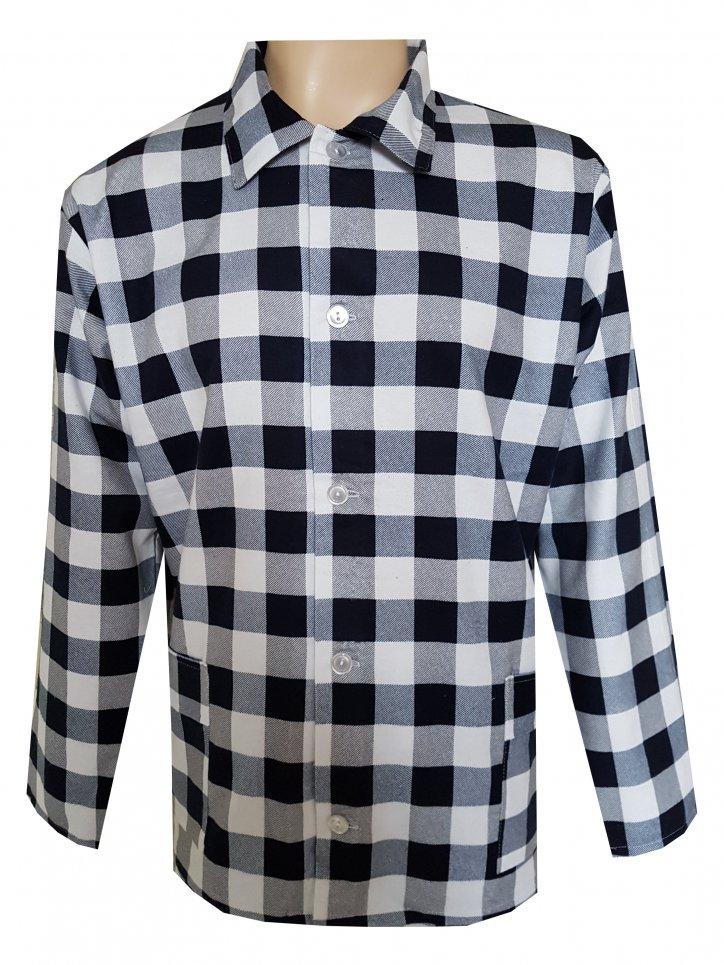 Pánský Pyžamový Kabátek Flanelový FOLTÝN PPKF14 Velikost: XL, Materiál: Flanel