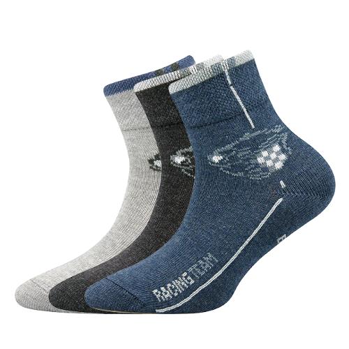 Dětské ponožky 3 kusy v balení Boma Autik mix vzorů C Velikost: 20-24