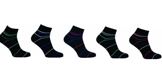 Bambusové ponožky 5 kusů v balení Novia Bambus 212 NB Velikost: 38-39