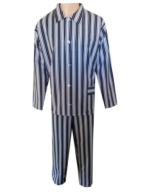 Pánské Pyžamo Flanelové FOLTÝN PF06 modré proužky Velikost: XL