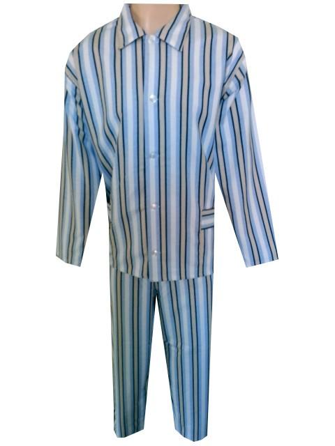 Pánské Pyžamo Flanelové FOLTÝN PF05 modrobílé proužky Velikost: XL