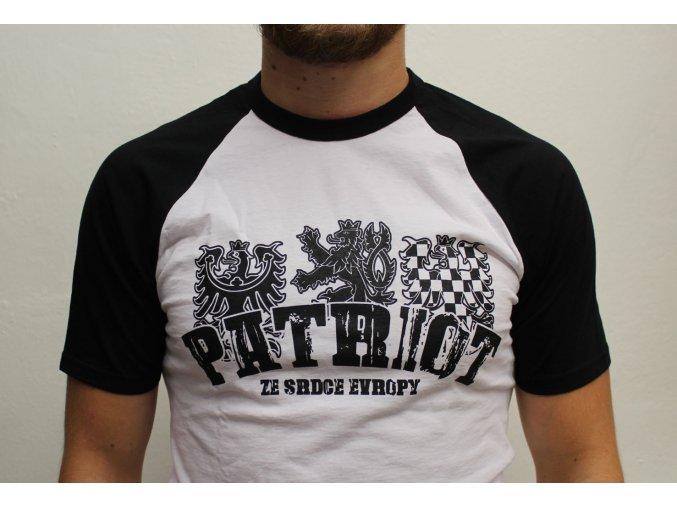 Tričko - Patriot ze srdce Evropy (B/W) (Velikost XXL)