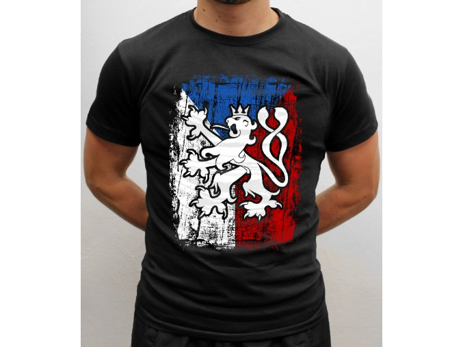 triko a lev a vlajka