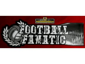Nálepka - Football fanatic - 45cm