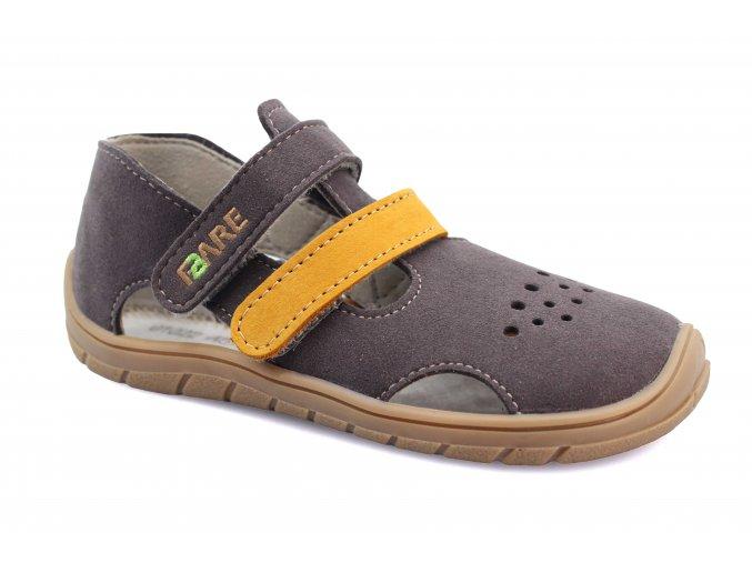 sandály Fare 5262261/5164261 šedo-pískové (bare) (EU size 23, Inner shoe length 152, Inner shoe width 66)