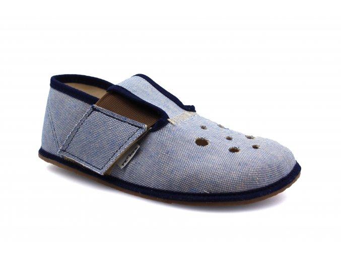 bačkory Pegres BF03 modrá (EU size 21, Inner shoe length 134, Inner shoe width 61)