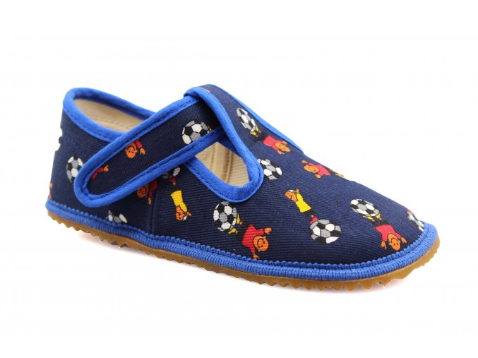 bačkory Beda fotbal modré (BF-060010/W) (EU size 22, Inner shoe length 140, Inner shoe width 60)