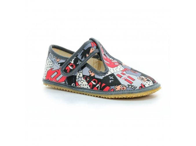 bačkory Beda komiks (BF-060010/W) (EU size 22, Inner shoe length 140, Inner shoe width 60)