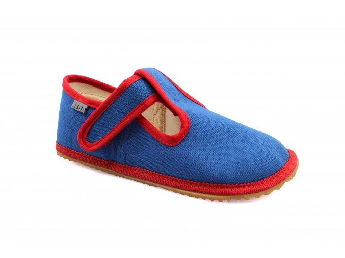 bačkory Beda modré s červenou (BF-060010/W) (EU size 23)