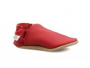 capáčky baBice Plain Red (EU size 19, Inner shoe length 125, Inner shoe width 62)