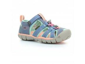 sandály Keen Seacamp II Flintstone Ocean wave K (CNX) (EU size 24, Inner shoe length 150, Inner shoe width 66)