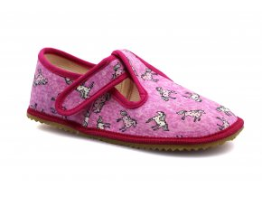slippers Beda pink horse light (BF-060010/W)