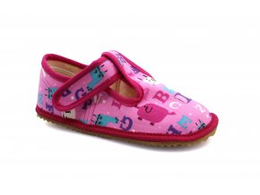 slippers Beda pink letters (BF-060010/W) (EU size 35)