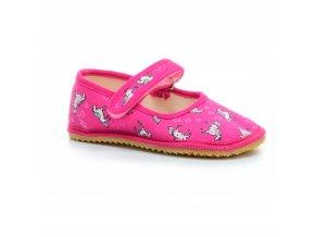 bačkory/ balerínky Beda růžové s koníky světlé (BF-060010/BA) (EU size 22, Inner shoe length 140, Inner shoe width 60)