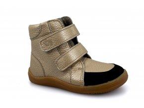 boty Baby Bare Febo Winter Gold (s membránou/Asfaltico) (EU size 21, Inner shoe length 137, Inner shoe width 65)
