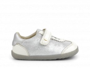 boty Bobux Sprite White Pearl + Silver Step Up (EU size 19)