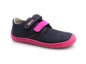 boty Fare 5113251 modré s růžovou, 2 suché zipy (bare) (EU size 23, Inner shoe length 152, Inner shoe width 66)