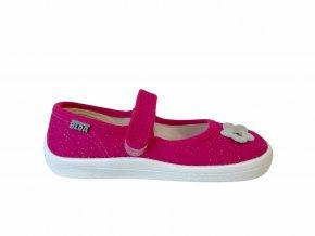 ballet flats Beda pink glitter - pink shine (BF 0001 / BA / textile) (EU size 25)