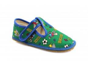 bačkory Beda fotbal zelený (BF-060010/W) (EU size 22, Inner shoe length 140, Inner shoe width 60)