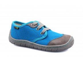 boty Fare 5411401 modré plátěnky/tkanička (bare) (EU size 23)