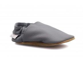 capáčky baBice Plain Dark Grey (EU size 17, Inner shoe length 118, Inner shoe width 57)