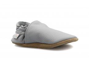 capáčky baBice Plain Light Grey (EU size 17, Inner shoe length 118, Inner shoe width 57)