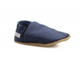 capáčky baBice Plain Navy (EU size 17, Inner shoe length 118, Inner shoe width 57)