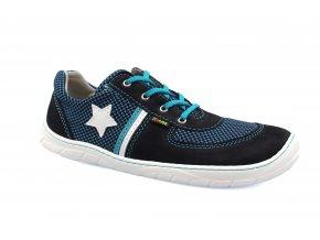 tenisky Fare B5613201 modré síťovina, tkaničky (bare) AD (EU size 37, Inner shoe length 245, Inner shoe width 93)