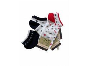 bambusové nízké ponožky Bambusoxx stripe, 3 páry (Socks size 35-38 EU)