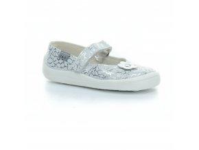 balerínky Beda Silver Shine (BF 0001/BA/kůže) (EU size 22, Inner shoe length 135, Inner shoe width 64)