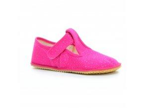 bačkory Beda Pink Shine s opatkem (BF-060010/W/OP) (EU size 22, Inner shoe length 140, Inner shoe width 60)