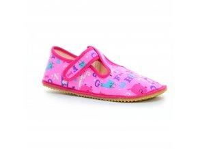 bačkory Beda růžové písmeno (BF-060010/W) (EU size 22, Inner shoe length 140, Inner shoe width 60)