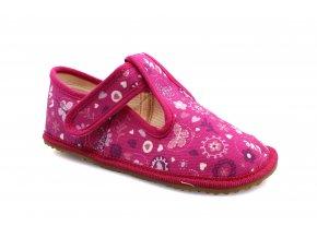 bačkory Beda růžová love s opatkem (BF 060010/W/OP) (EU size 22, Inner shoe length 140, Inner shoe width 60)